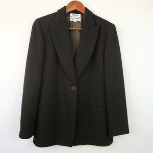 Giorgio Armani Brown Wool Textured Blazer Size 4
